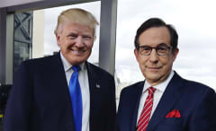This is a photo of Trump and Chris Wallace.