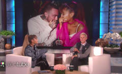 This is Ariana Grande on Ellen confirming she is dating Mac Miller.