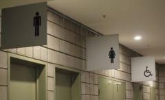 Bathroom signs.