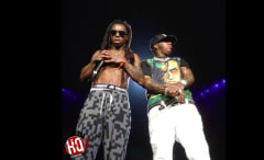 A still image of Birdman and Lil Wayne from the Vimeo stream.