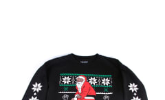 Nas Kneeling Santa Christmas Sweaters