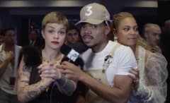 Beyonce crashing Chance the Rapper's interview at the VMAs.