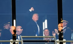 Donald Trump attends Army versus Navy football game