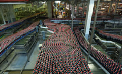 Coca-Cola factory in France.