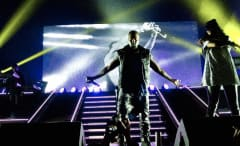 Kanye West during the Big Sean Concert