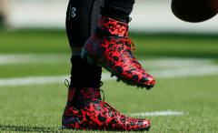 Cam Newton Wears Under Armour Halloween Cleats Close