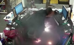 Wine store worker e-cig explosion