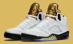 Gold Jordan 5 Release Date Main 136027-133