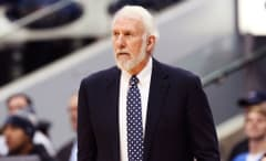 Gregg Popovich prowls the sidelines.