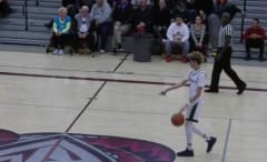 Prep phenom LaMelo Ball calls his own shot from the half-court line.