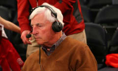 College basketball coaching legend Bobby Knight at a game
