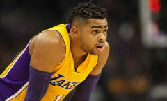D'Angelo Russell plays in Lakers game