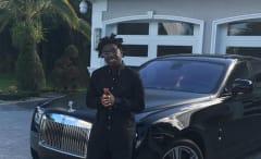 This is Kodak Black's Instagram selfie with a Rolls Royce.