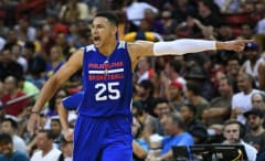 Ben Simmons playing in Philadelphia 76ers exhibition game