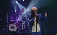 "D.R.A.M. and Travis Barker's performance of ""Broccoli"" on Conan."