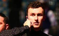 Johnny Manziel attends a UFC fight.
