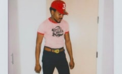This is Chance the Rapper wearing his signature 3 hat.