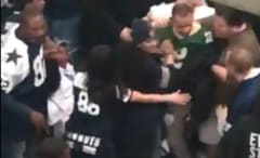 Cowboys fans beat up a Packers fan.