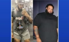 Man's 300 pound weight loss.