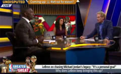 Skip Bayless argues with Shannon Sharpe about something stupid.