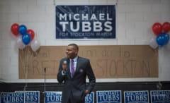 Michael Tubbs at his campaign kickoff.