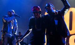 Kid Cudi, Big Sean, and Kanye West