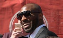 Kobe Bryant walks the red carpet at the ESPYs.