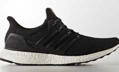 Black Adidas Ultra Boost Leather Cage BA8924 Profile