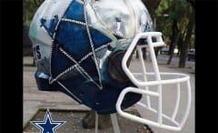 A Mexican artist's interpretation of a Cowboys helmet.