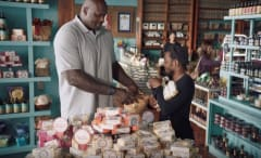 Kendrick Lamar and Shaq in American Express commercial.
