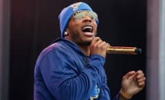Nelly performs at the NHL's Winter Classic.