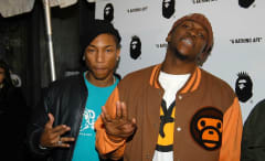 Pharrell and Pusha at Bape event, 2005