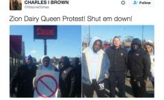 Dairy Queen protest Zion, IL