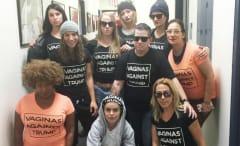 'Orange Is the New Black' anti Trump shirt cast and crew.