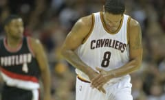 Channing Frye playing in a game for the Cavaliers