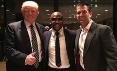 Donald Trump, Floyd Mayweather, and Donald Trump Jr.