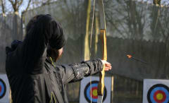 Bow and arrow shot