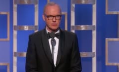 Micheal Keatons Messes Up at Golden Globes