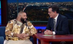 DJ Khaled and Stephen Colbert.