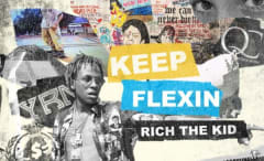 This is Rich the Kid's cover art for 'Keep Flexin.'