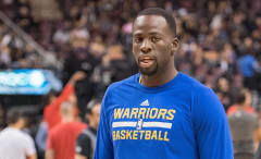 Draymond Green warms up before a game.