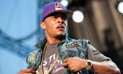 T.I. performs.