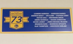 The Warriors have a 73-9 banner hanging in their practice facility.