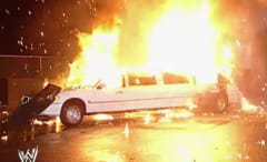 Vince McMahon explodes in a limo.