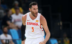 Rudy Fernandez represents Team Spain during the 2016 Olympic Trials.
