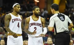 Iman Shumpert and Kyrie Irving complain to referee