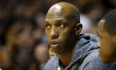 Chauncey Billups watching a game