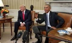 Barack Obama and Donald Trump at White House
