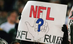 NFL XFL Rules Poster 2001