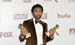Donald Glover at the 2017 Golden Globe Awards